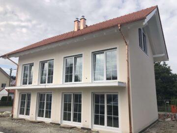 Moderne Süd-Ost Neubaudoppelhaushälfte in Peiting-Süd mit Einzelgarage, 86971 Peiting, Doppelhaushälfte
